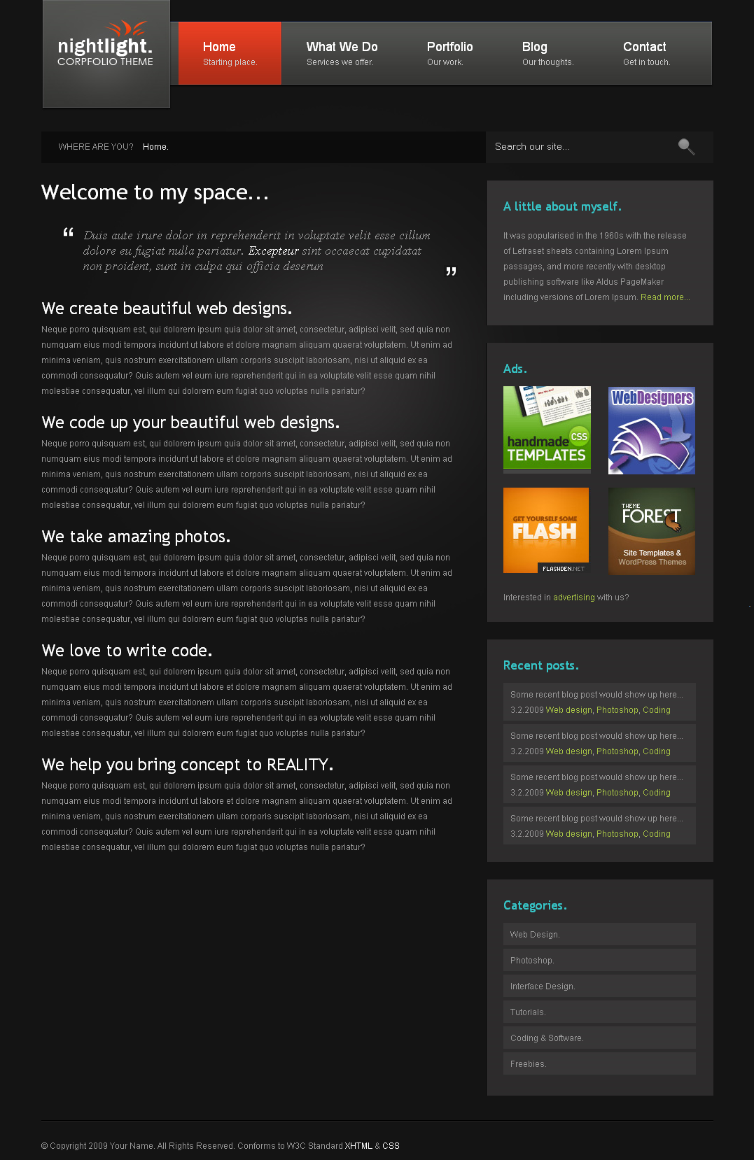 nightLight - Home Page