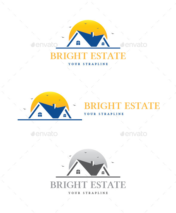 Bright Estate Logo - Buildings Logo Templates