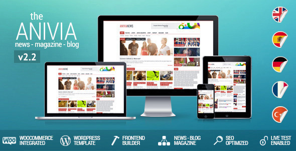 Anivia – News, Magazine, Blog WordPress Templates