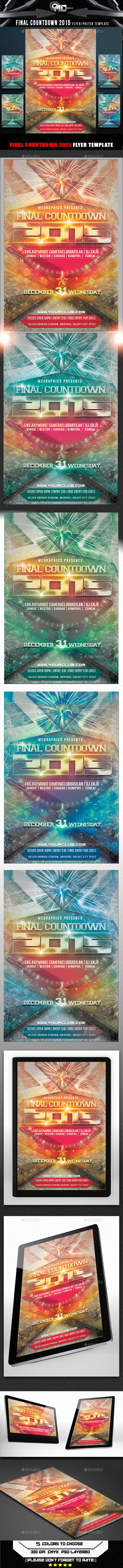 Final Countdown 2015 Flyer Template - Flyers Print Templates