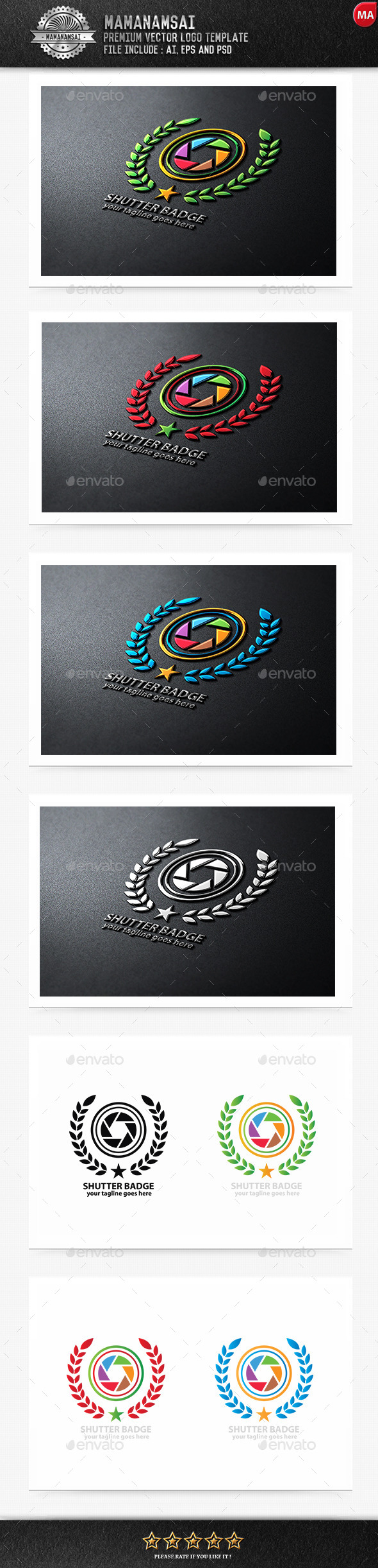 Shutter Badge Logo - Logo Templates