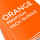 Orange Corporate Business Proposal Bundel