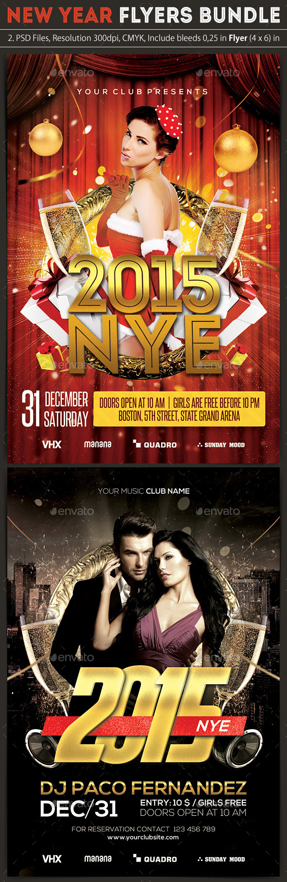New Year Flyers Bundle - Clubs & Parties Events