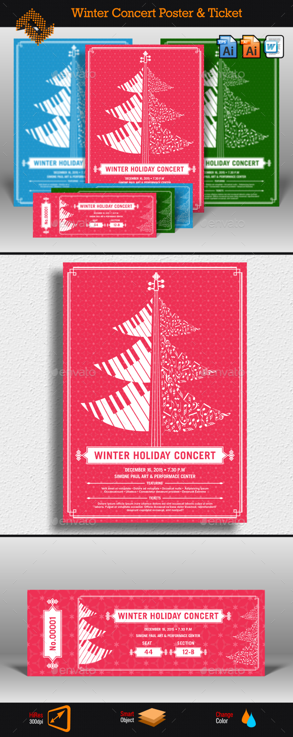 Winter Holiday Concert Flyer & Ticket - Concerts Events