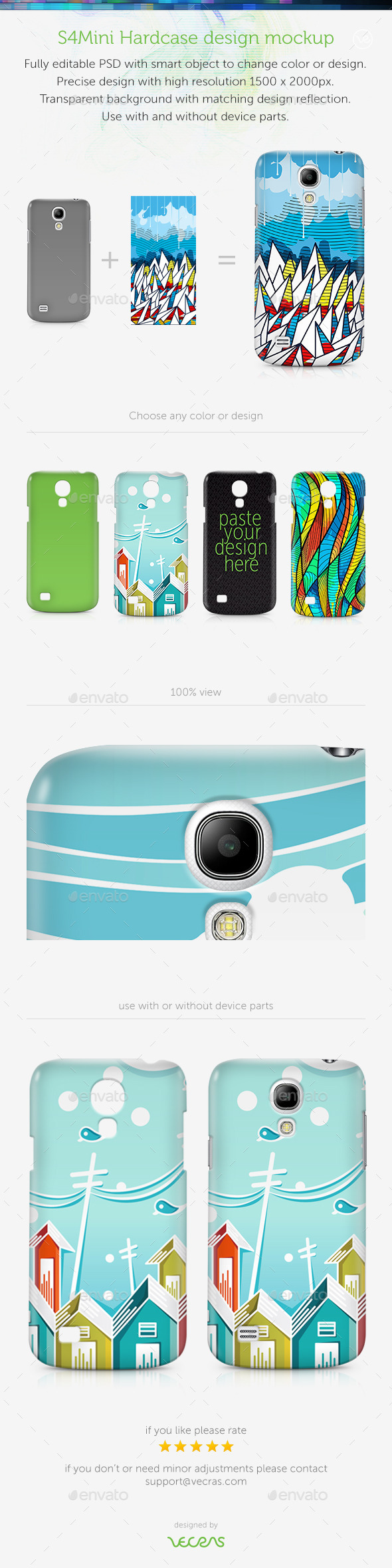 S4Mini Case Design Mockup - Mobile Displays