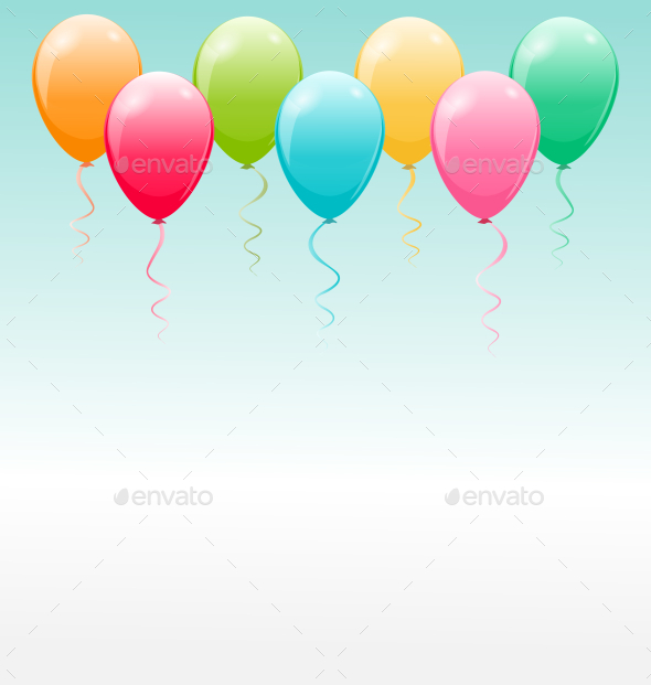Balloon Background - Backgrounds Decorative