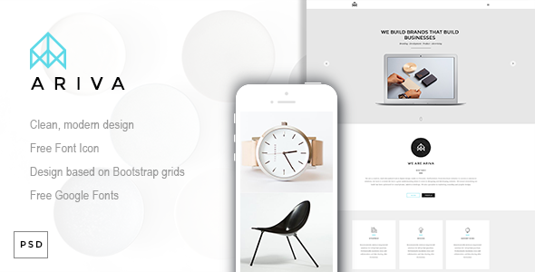 Ariva – One Page PSD Template