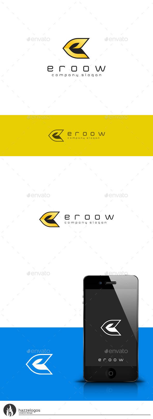 Eroow - Letter E Logo - Letters Logo Templates