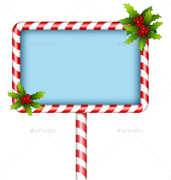Candy Cane BillBoard - Backgrounds Decorative