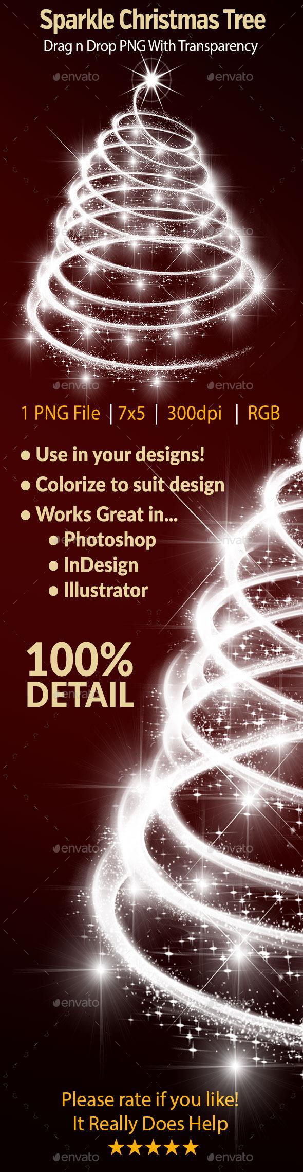 Sparkle Christmas Tree - Decorative Graphics