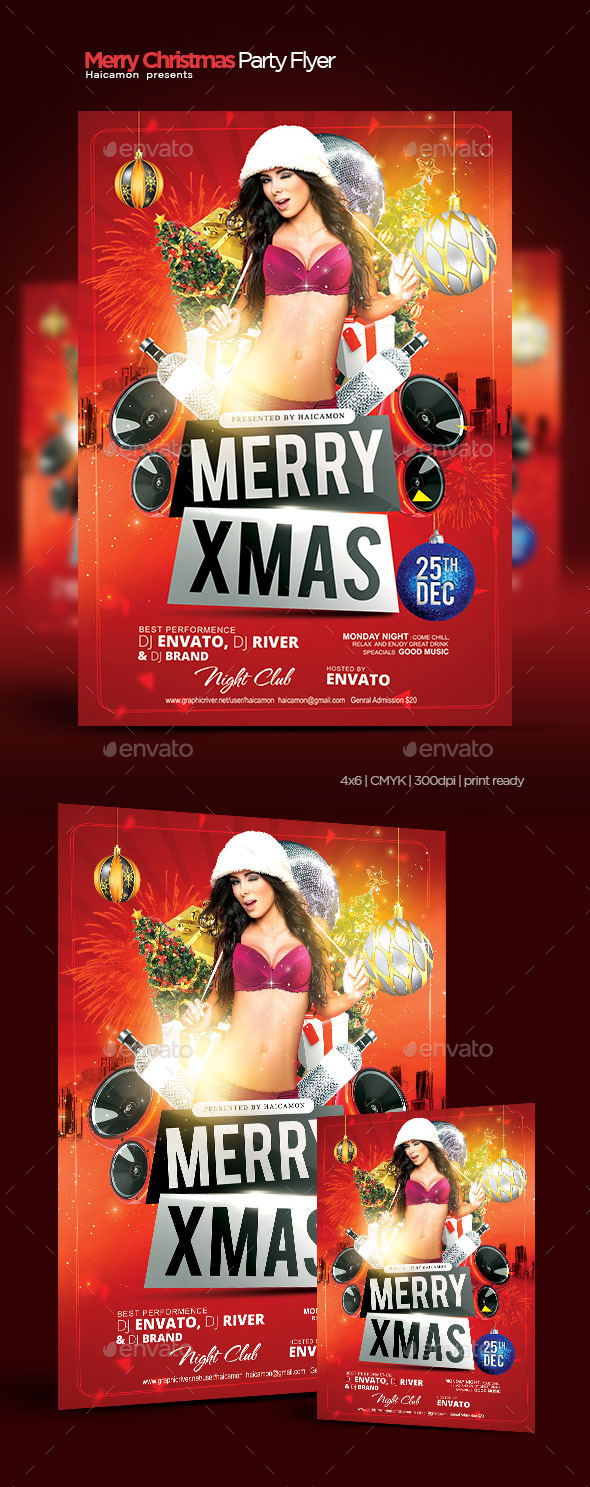 Merry Christmas Party Flyer - Clubs & Parties Events