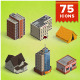Isometric Map Icons Vol.01 - GraphicRiver Item for Sale