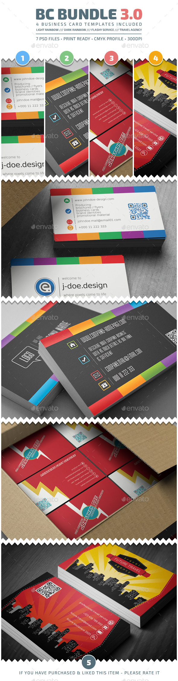 Business Cards Bundle v3.0 - Corporate Business Cards