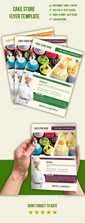 Cake Store Flyer - Restaurant Flyers