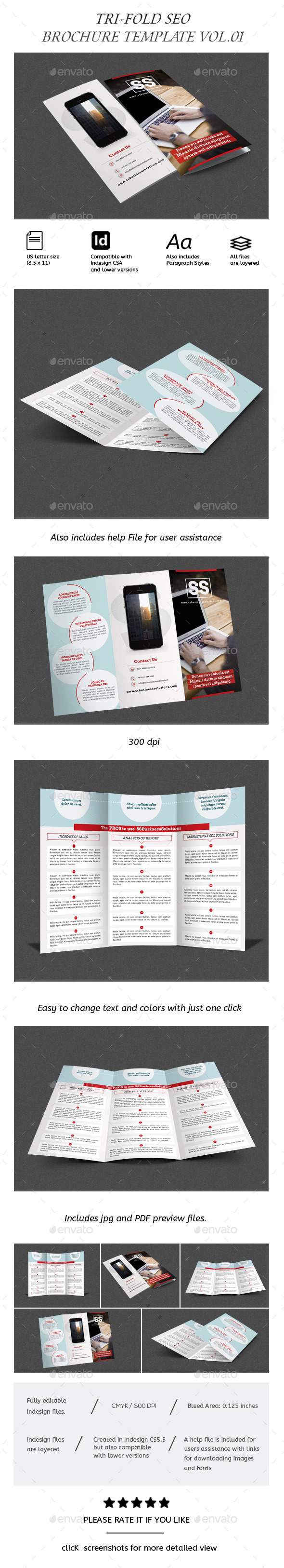 Business Trifold Brochure Vol-III - Corporate Brochures