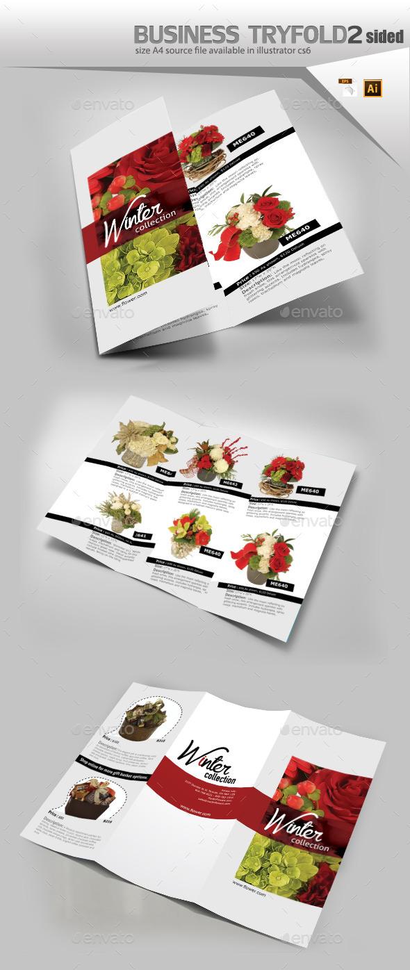Bouquet Of Flowers Brochure Template - Brochures Print Templates