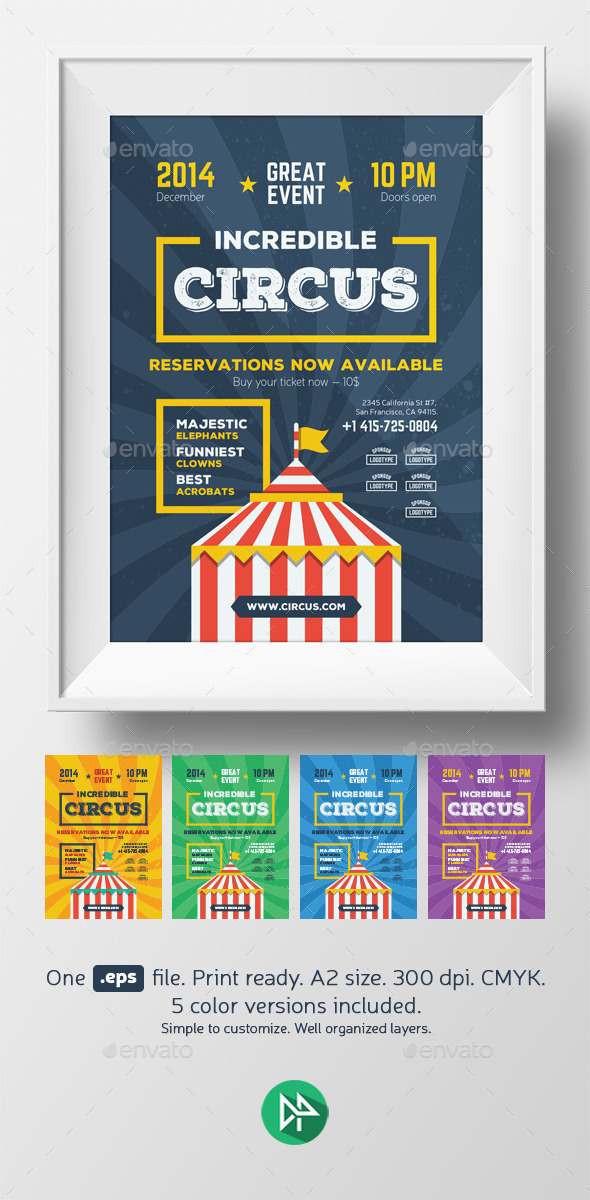 Circus Poster Template - Events Flyers