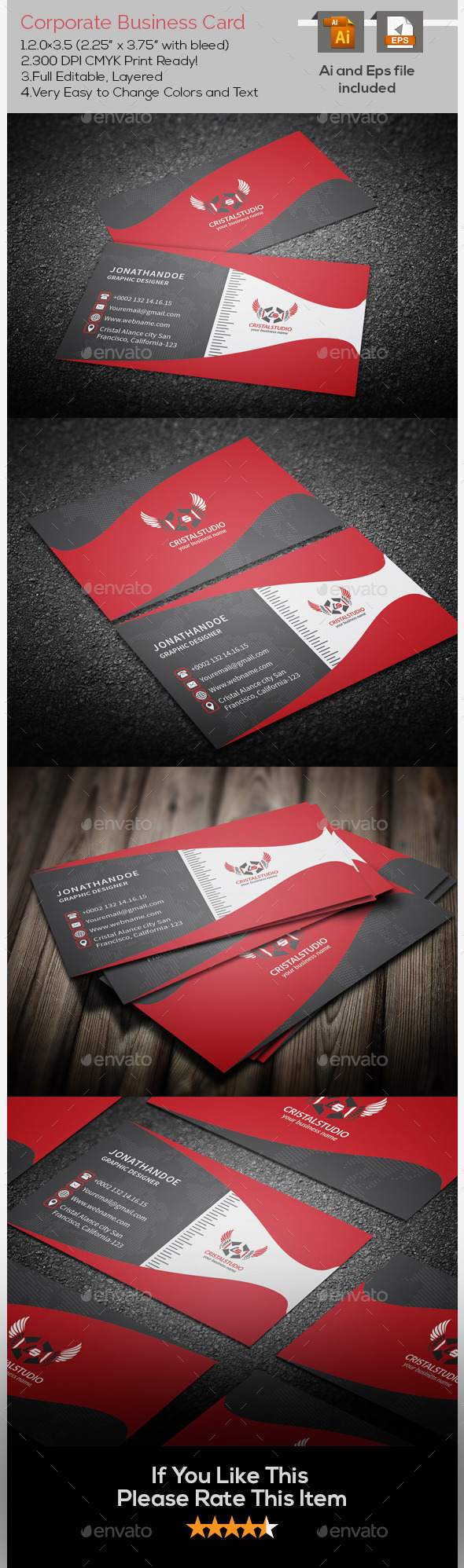 Blendos & Corporate Business Card - Corporate Business Cards