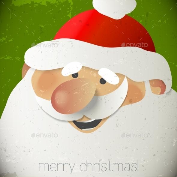 Santa Claus Greeting Card - Patterns Decorative