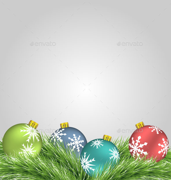 Christmas Balls  - Backgrounds Decorative