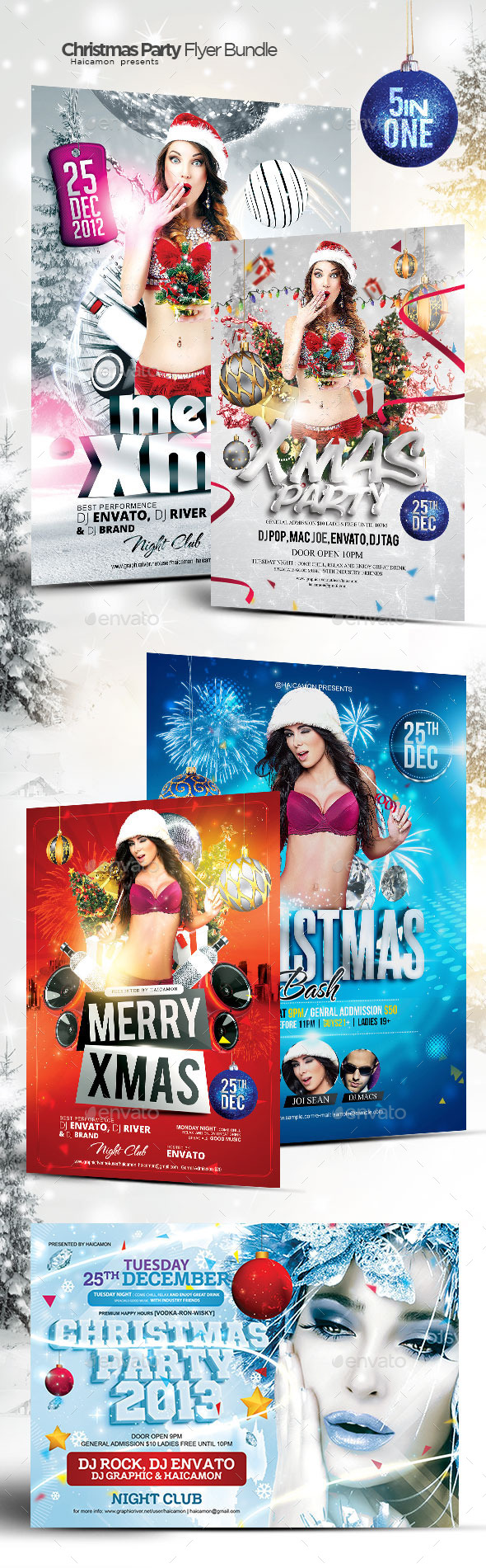 Christmas Party Bundle - Events Flyers
