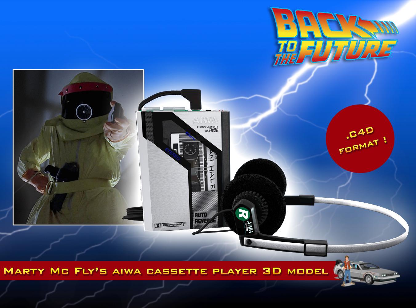 Bttf Aiwa Walkman By Marcel Studios 3docean