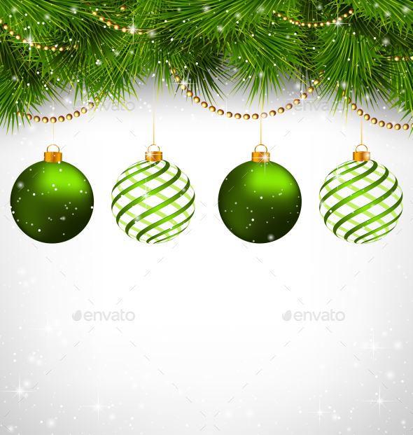 Spiral Christmas Balls  - Backgrounds Decorative