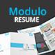 Modulo Resume Template - GraphicRiver Item for Sale