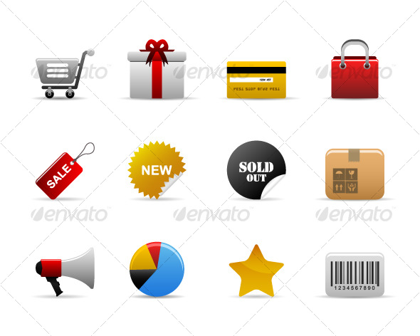 Ecommerce Icons Vector - Web Elements