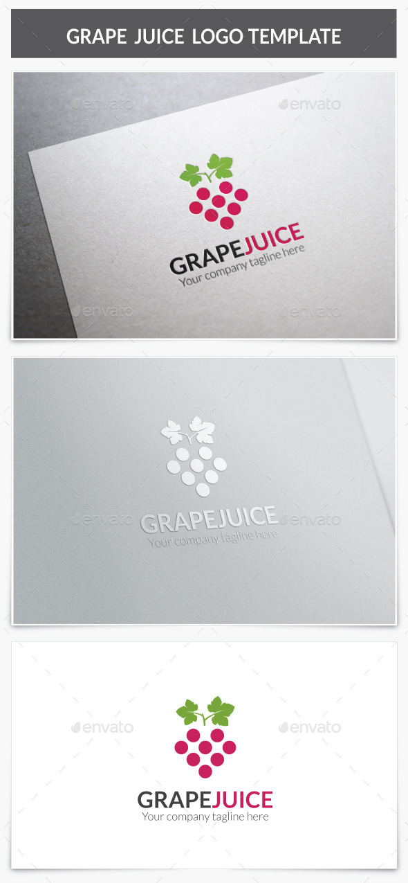 Grape Juice Logo - Food Logo Templates