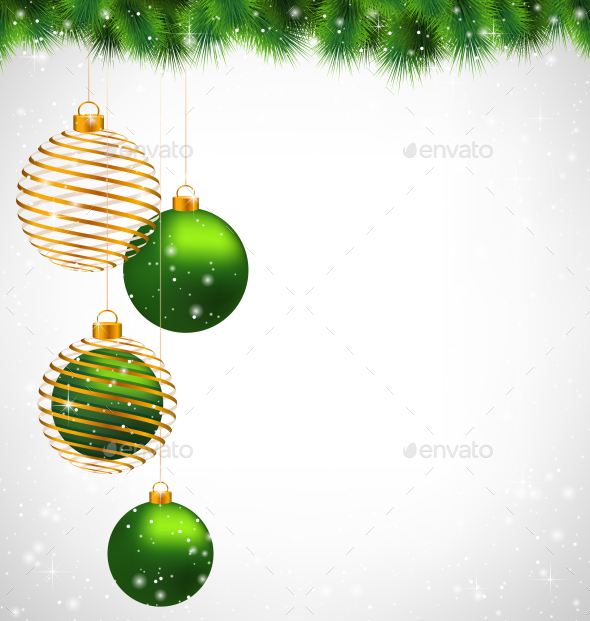 Spiral Golden Christmas  - Backgrounds Decorative