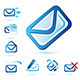 Email Icons Collection in Two Versions - Red and Blue - GraphicRiver Item for Sale