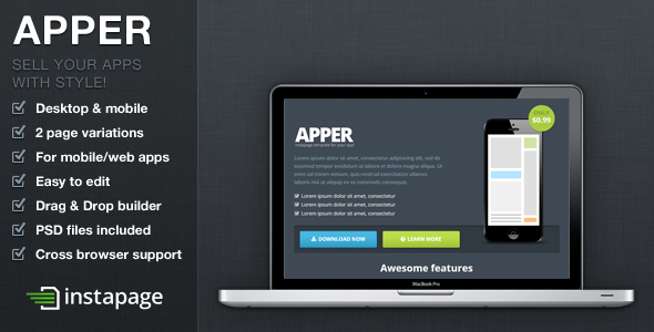 Apper - Instapage App Presentation Template  - Instapage Marketing
