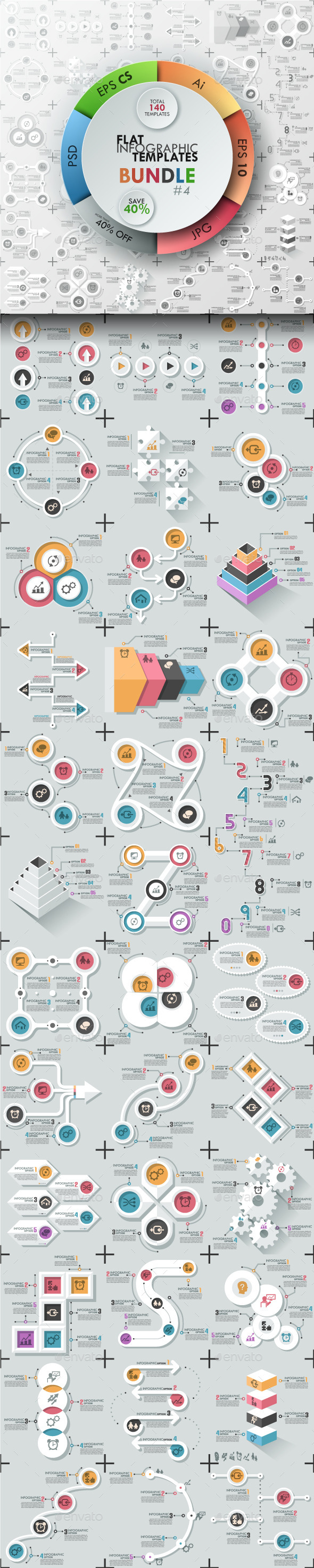 The Fourth Bundle Of Infographics (Flat Templates - Infographics