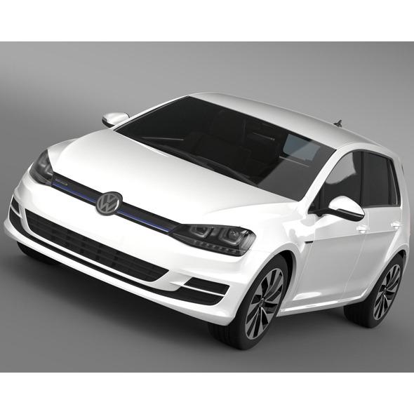 VW Golf BlueMotion Concept Typ 5G 2012 - 3DOcean Item for Sale