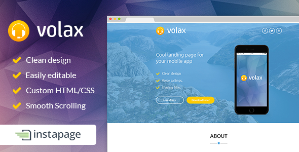 Volax - Instapage Mobile App Landing Page - Instapage Marketing