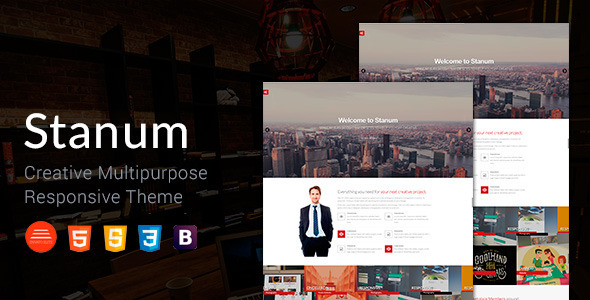 Stanum – Responsive Creative Bootstrap Template