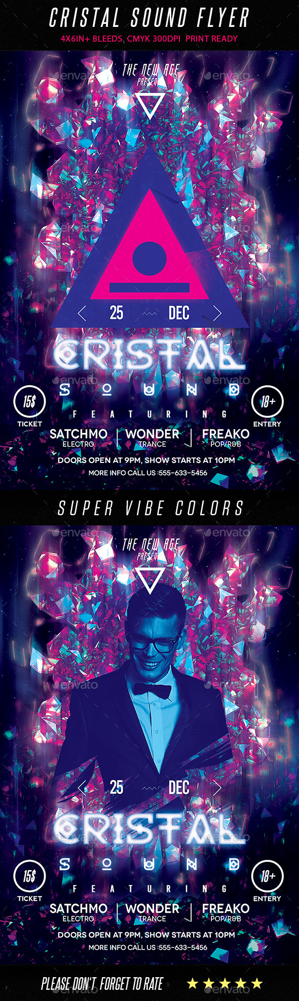 Cristal Sound Flyer - Clubs & Parties Events