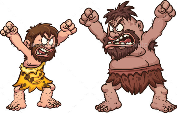 Cavemen Arguing  - People Characters