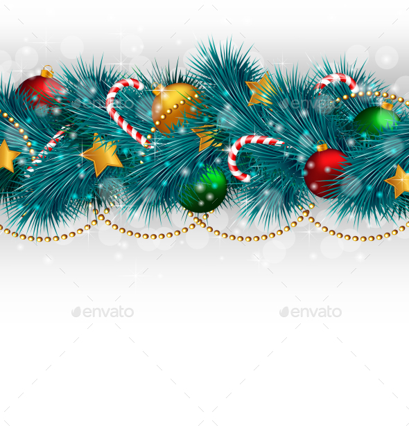 Christmas Branches - Backgrounds Decorative