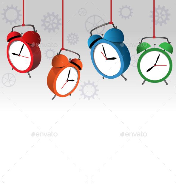 Alarm Clock Background - Backgrounds Decorative