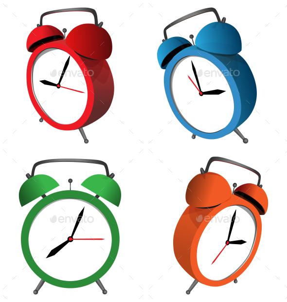 Alarm Clocks - Backgrounds Decorative