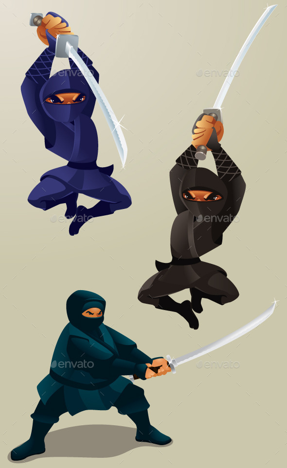Attacking Ninja - People Characters