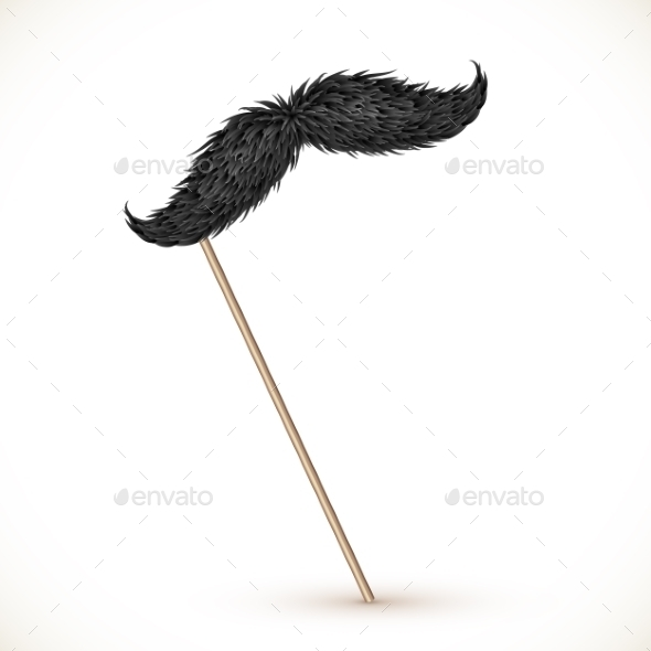Mustache on a Stick - Objects Vectors
