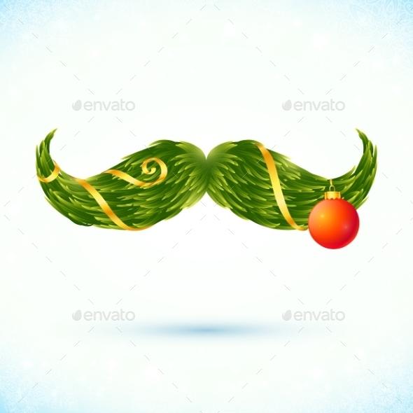 Christmas Mustache - Christmas Seasons/Holidays