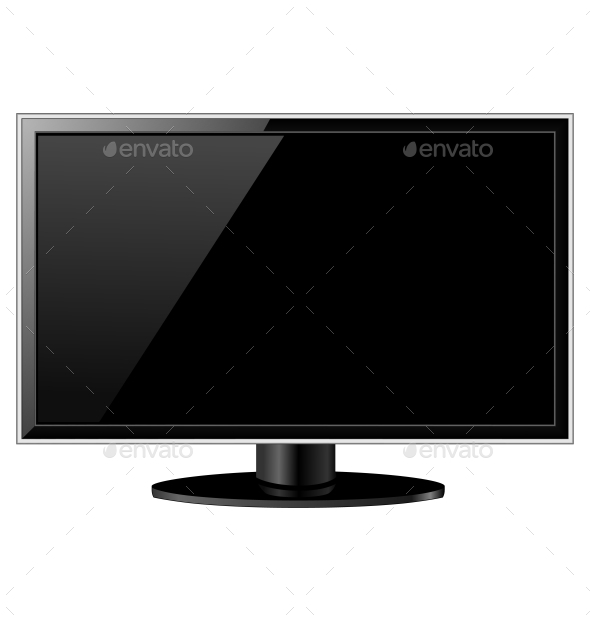 Black Glossy TV - Man-made Objects Objects