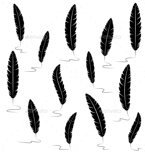 Writing Feathers - Backgrounds Decorative
