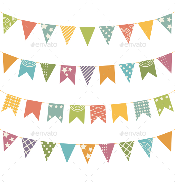 Bunting Set - Backgrounds Decorative