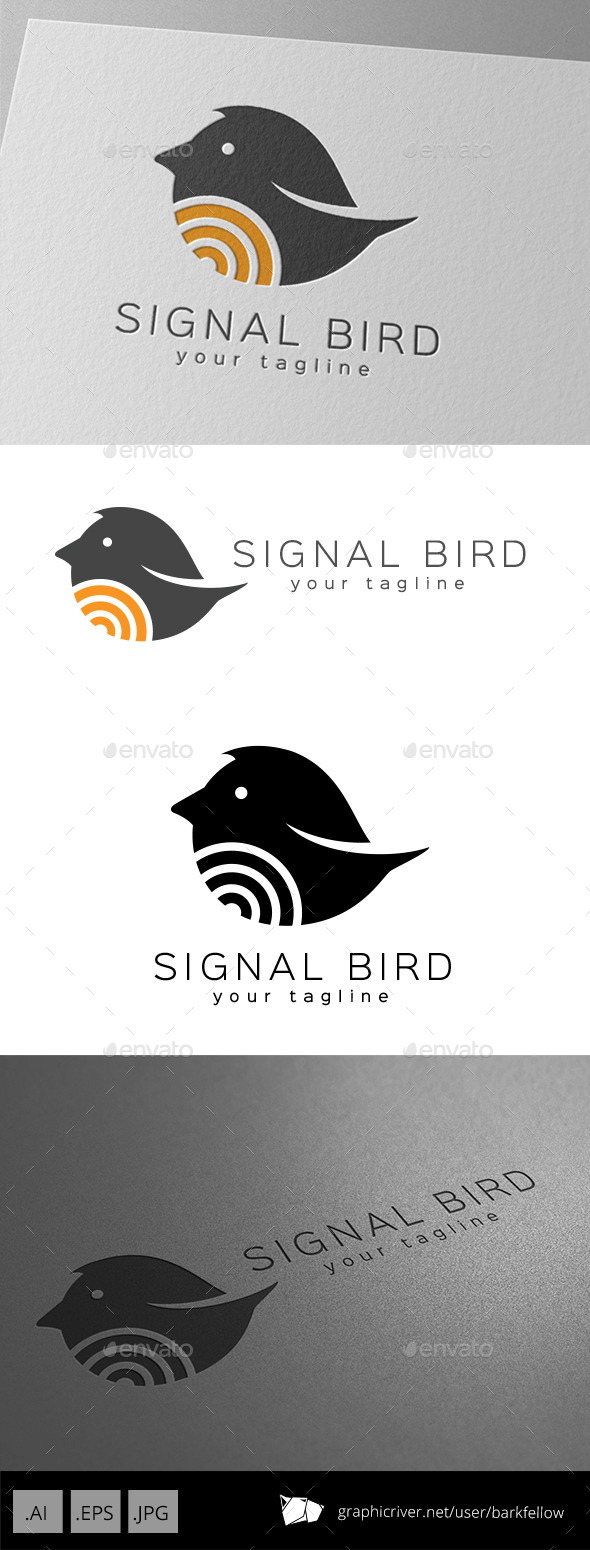 Signal Bird Logo Design - Animals Logo Templates
