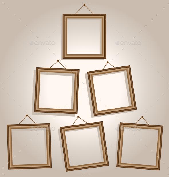 Wooden Frames - Backgrounds Decorative